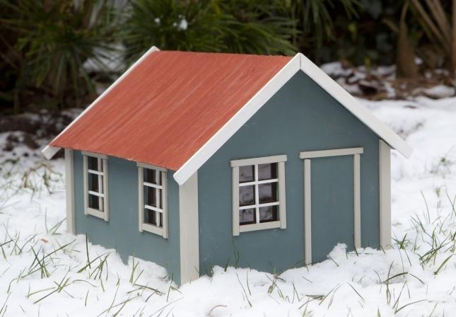 Huisje van hout maten - Huisje met vide ...