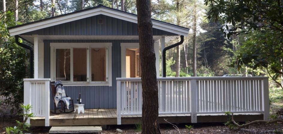 Houten stacaravan huisje van hout for Hout huis