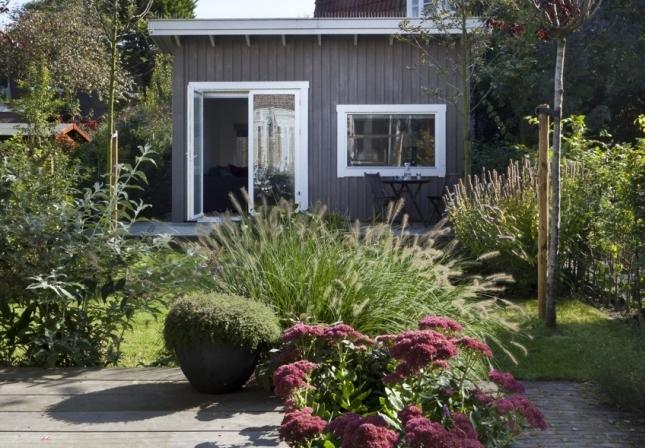 Houten Scheidingswand Tuin : Tuinhuis huisje van hout