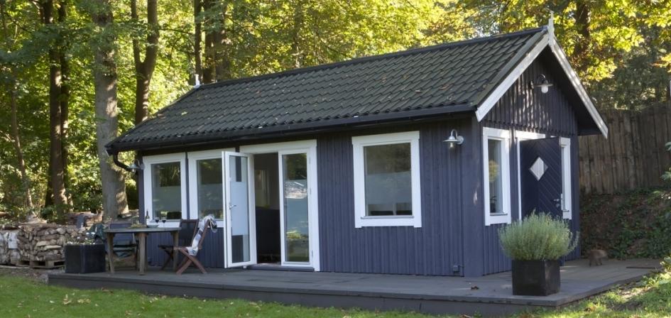 Praktijkruimte huisje van hout for Zelf woning bouwen prijzen