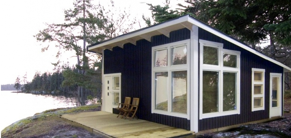 Woonark bouwen huisje van hout for Vakantiehuis bouwen
