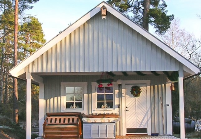 Houten huisje huisje van hout - Houten huis ...